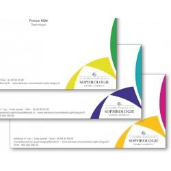 Carte de correspondance - 3 Gammes de couleurs