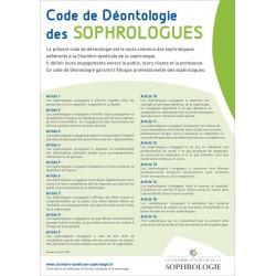 Affichette A4 - Code de Déontologie